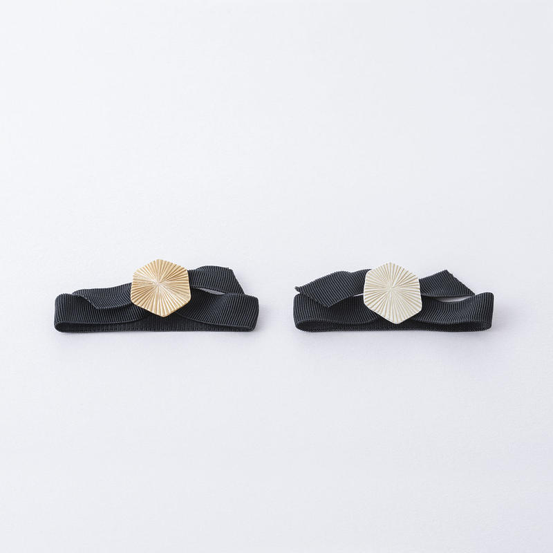 キカラインプレートポニー・ヘキサゴン  /  Plate of the hairline processed hex type Hair elastic