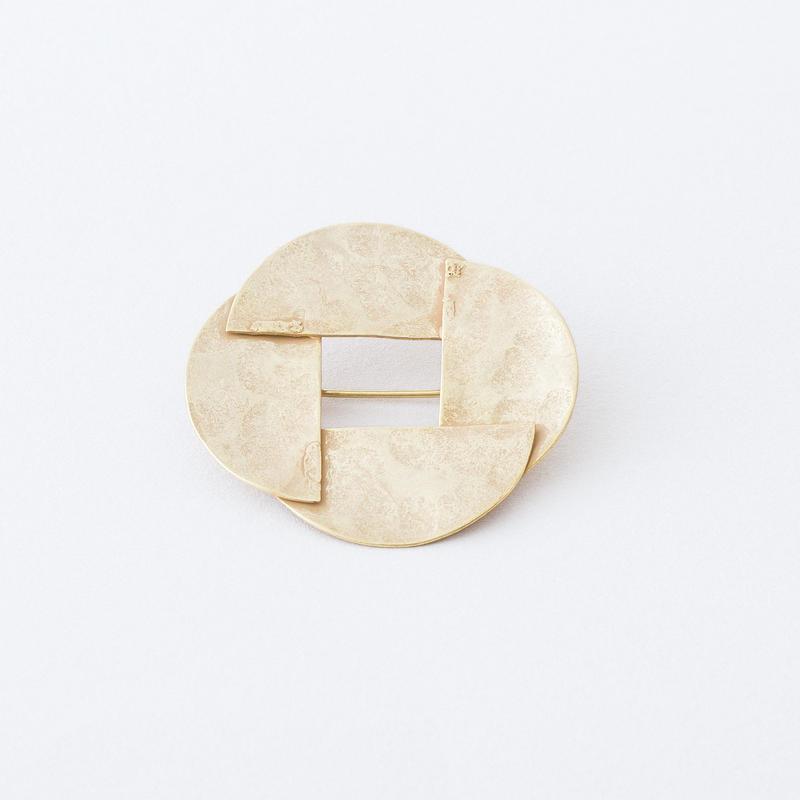 ハーフサークルブローチ  /  Half circle Brooch