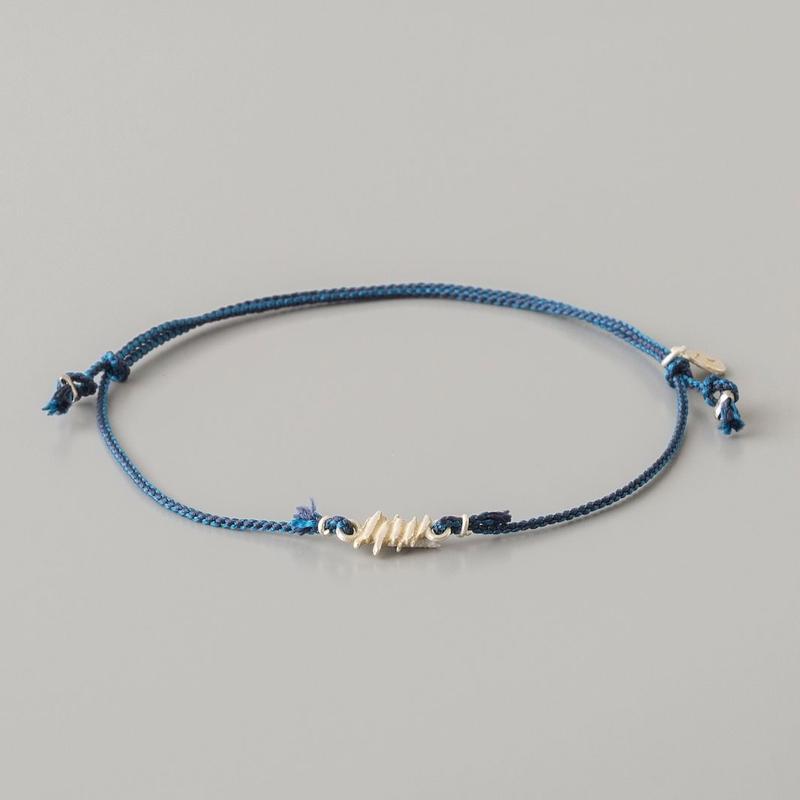 くみひも×メタルさざれアンクレット / Kumihimo metal chip Anklet