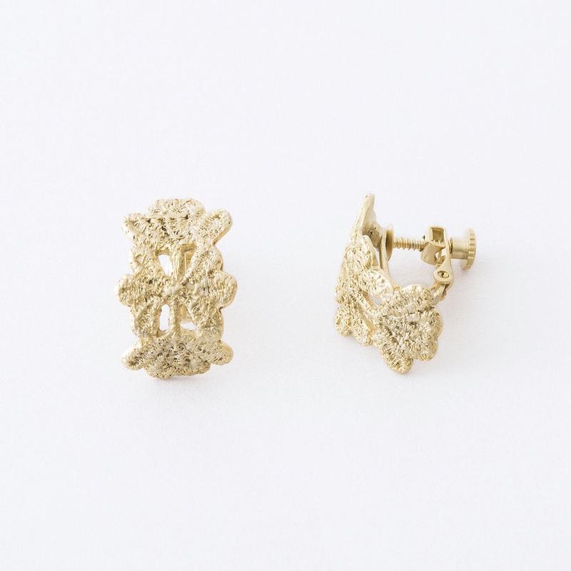 レースプレートイヤリング /  Lace plate Earring