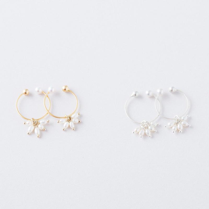 淡水シードパールイヤリング / Freshwater seed pearl Earring