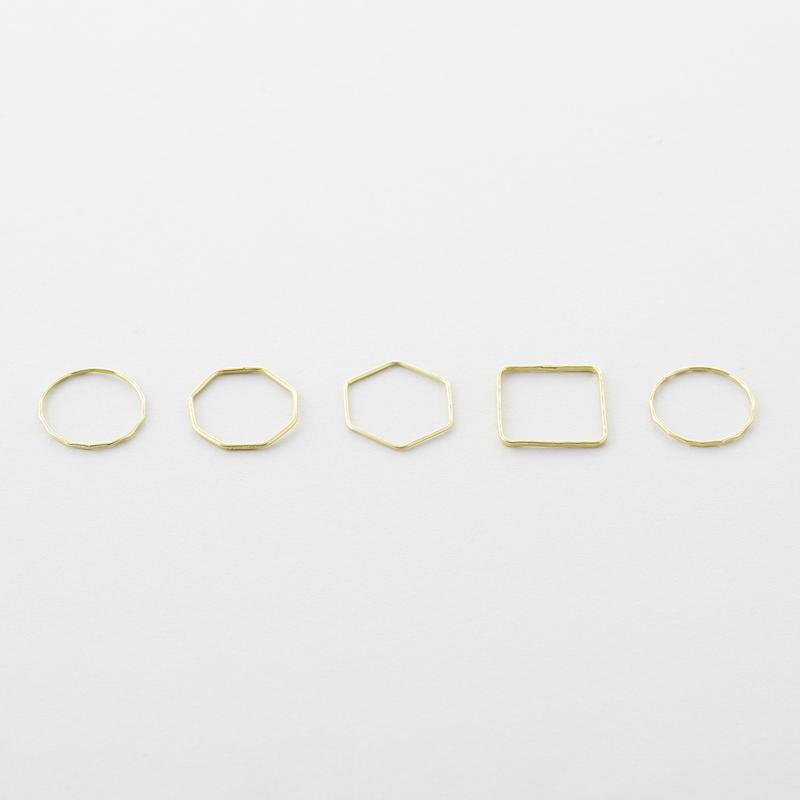 キカ5setリング  /  Geometry type Five-set Ring
