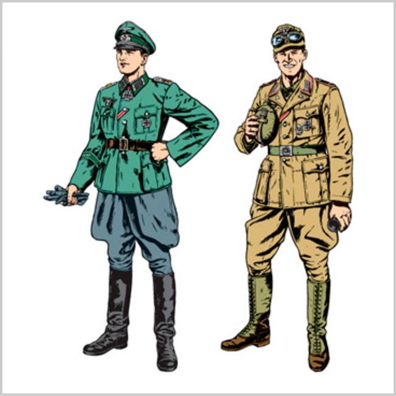 プラモデル タミヤ 1/35 ドイツ国防軍将校・アフリカ軍団戦車兵セット 限定商品 25154