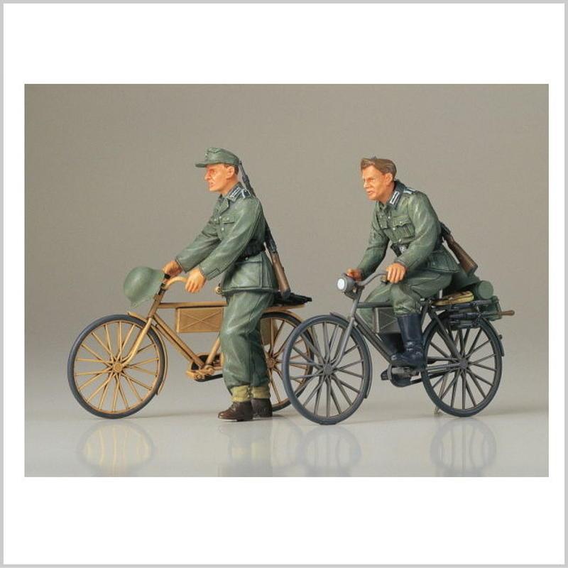 プラモデル タミヤ 1/35 ドイツ歩兵 自転車行軍セット  35240