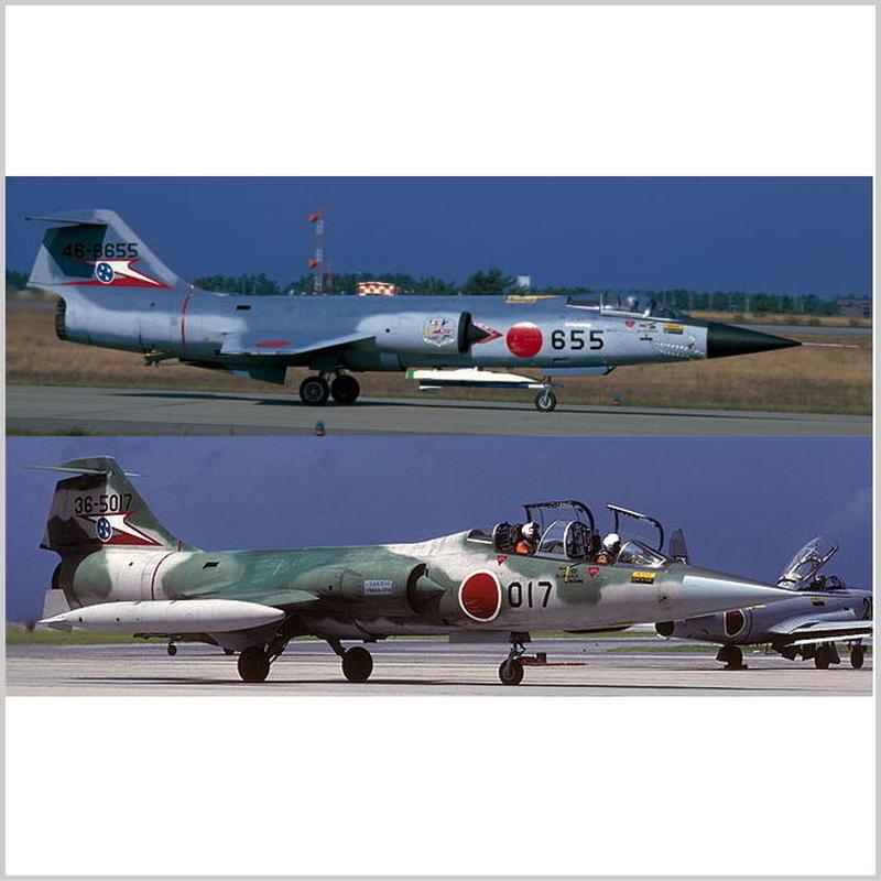 """プラモデル ハセガワ 1/72 F-104J/F-104DJ スターファイター """"207SQ コンボ"""" 02104 特別仕様 2機セット"""