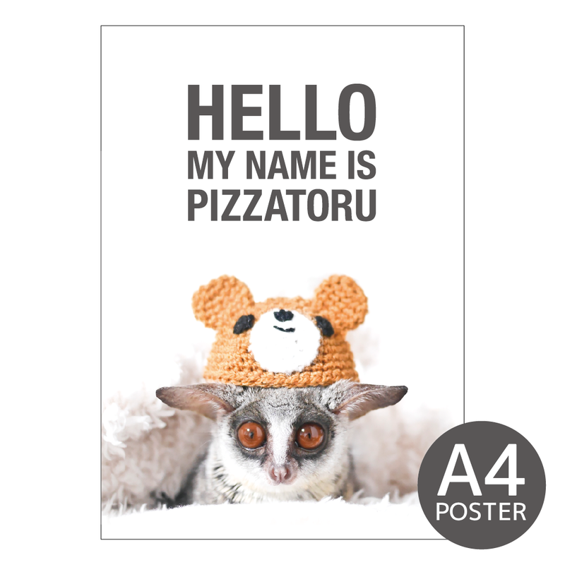PIZZATORU mini Poster / ミニポスターA4サイズ [Bear]