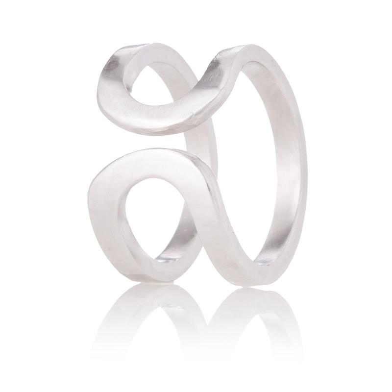 happiness of the loop ring-silver-