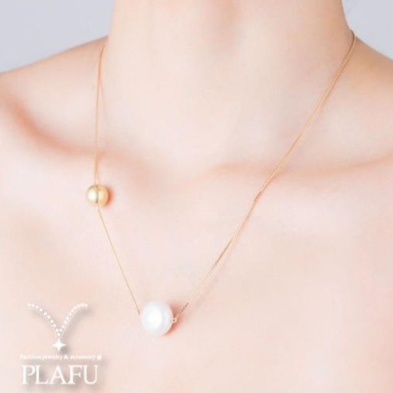 CORON series♥Pearl × Gold  necklace