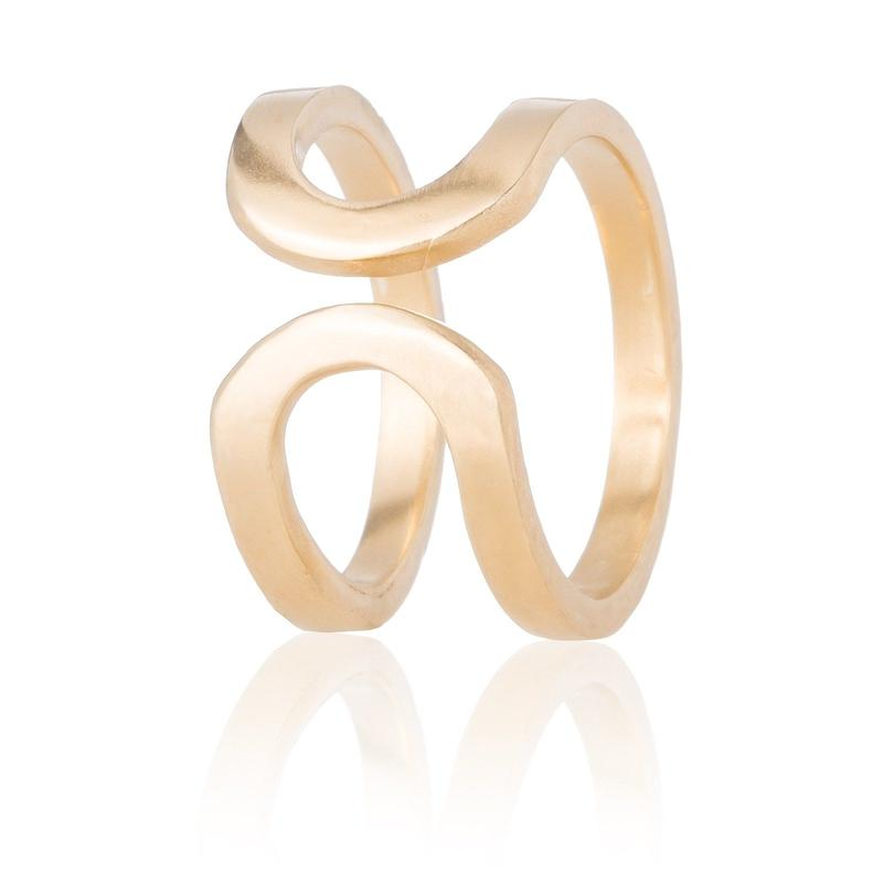 10K happiness of the loop ring -gold-