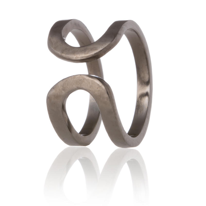 happiness of the loop ring-black