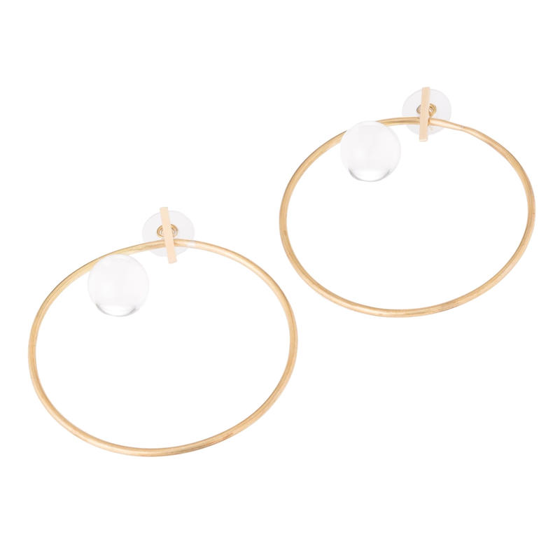 Diamondring earrings 大gold-silver925-