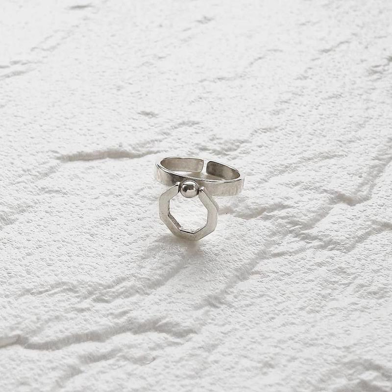 ラスト1点 [silver925] Octagon ring