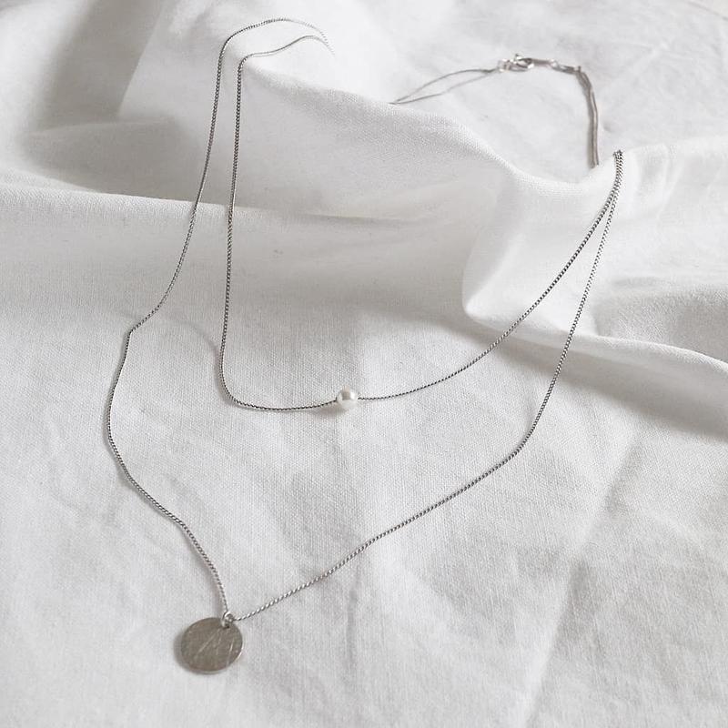 ラスト1 [silver925] pearl layered necklace