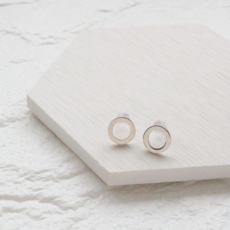 [silver925] Simple circle pierce