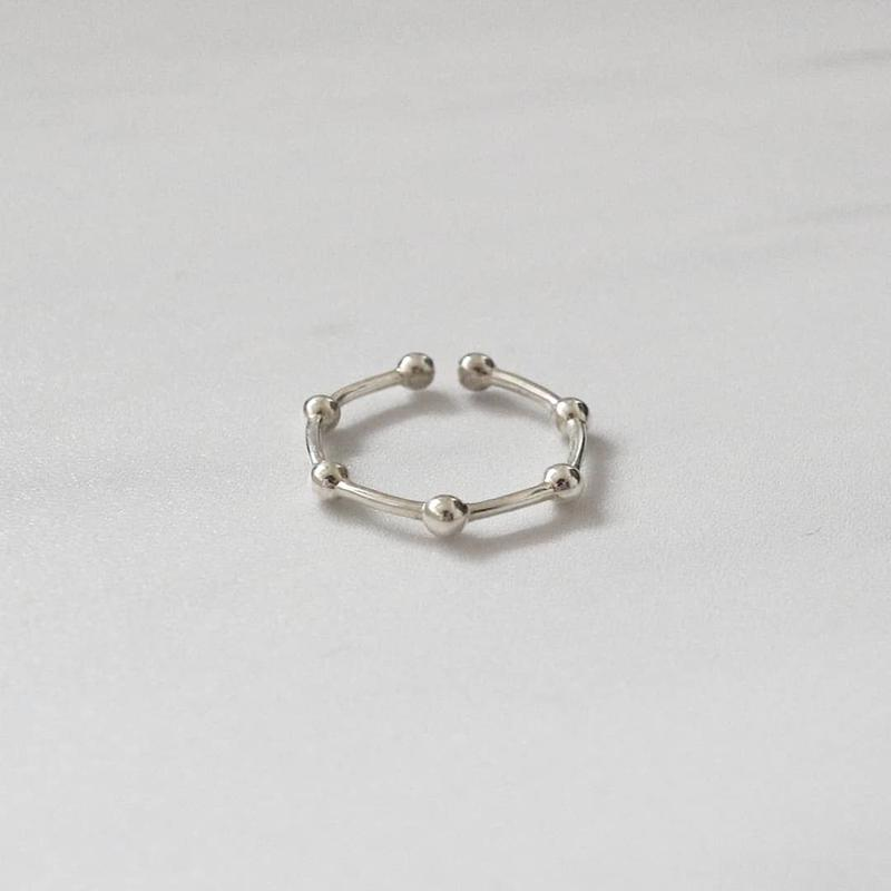 [silver925] Slim ball ring