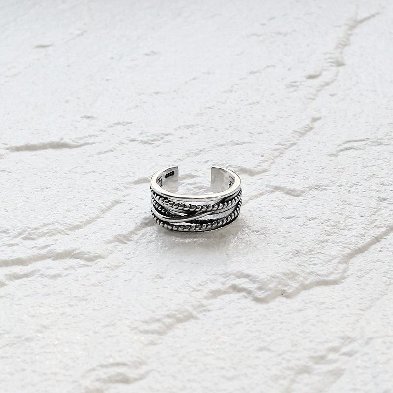 [silver925] Wide  rope  ring
