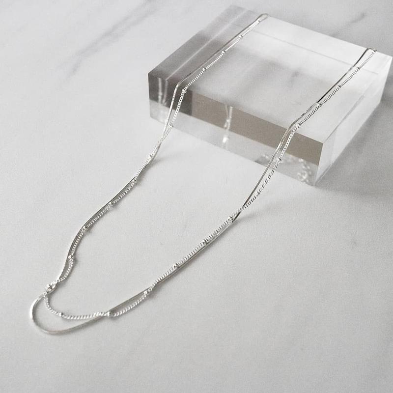 [silver925] Ball line snake chain