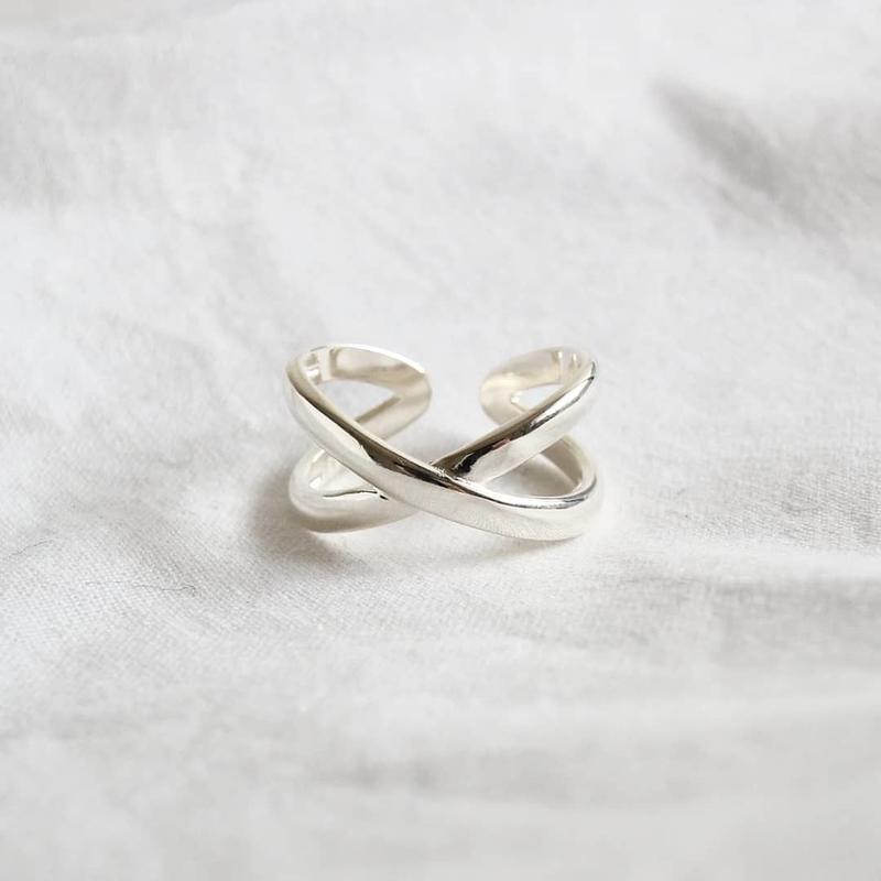 ラスト1 [silver925] x cross ring