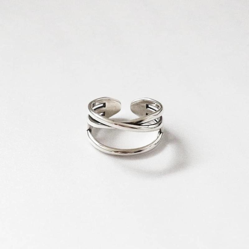 [silver925] Wide cross ring