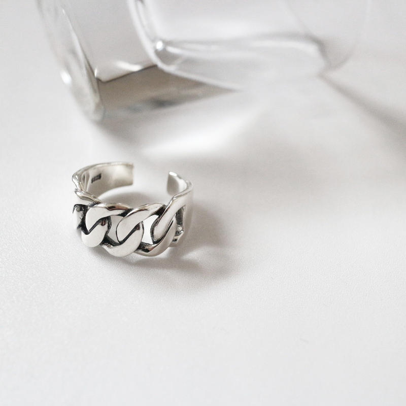 [silver925] Wide Chain ring