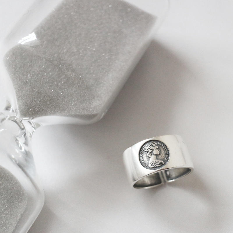 ラスト1点 [silver925] Coin design ring