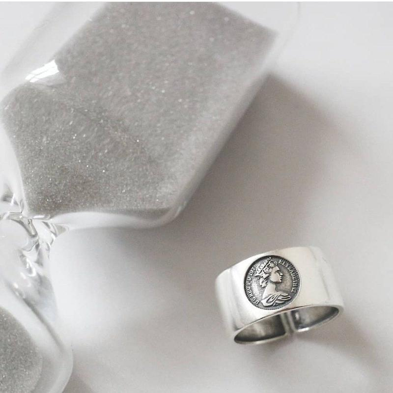 予定販売 [silver925] coin design ring