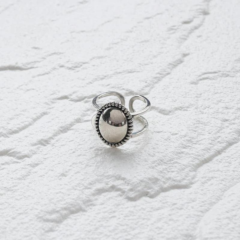 ラスト1点 [silver925] Oval mirror ring