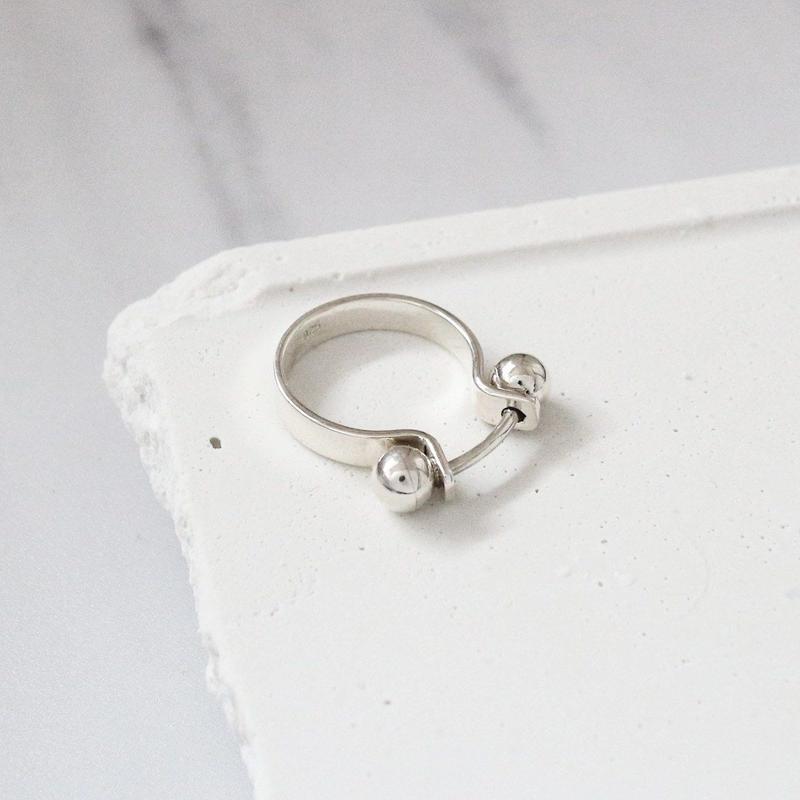 ラスト1 [silver925] Ohm ring