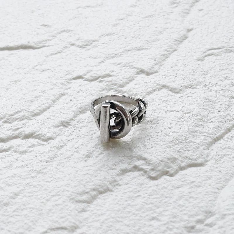 ラスト1点 [silver925] Lock chain ring