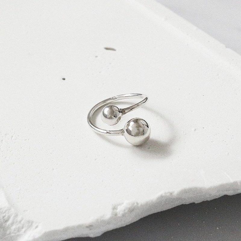 [silver925] Twin ball ring