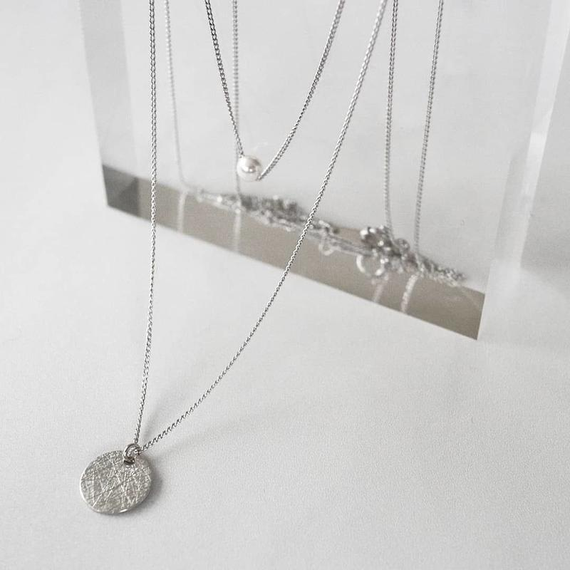[silver925] Pearl layered necklace