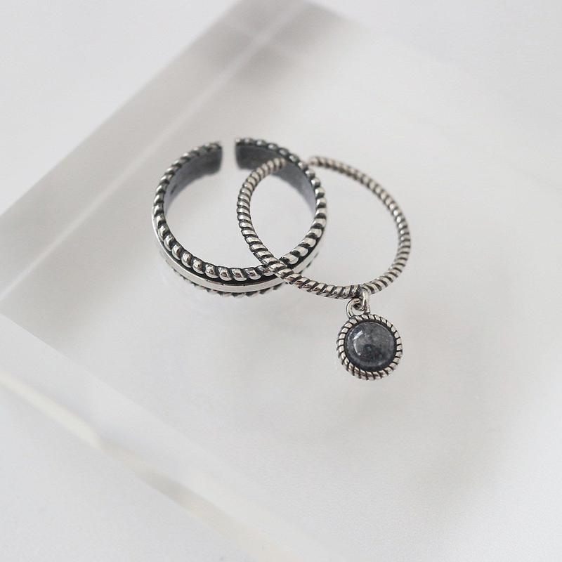 [silver925] Glitter stone ring