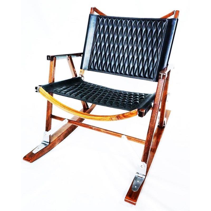 Kermit Chair leather jacket (ダイヤモンドステッチ)