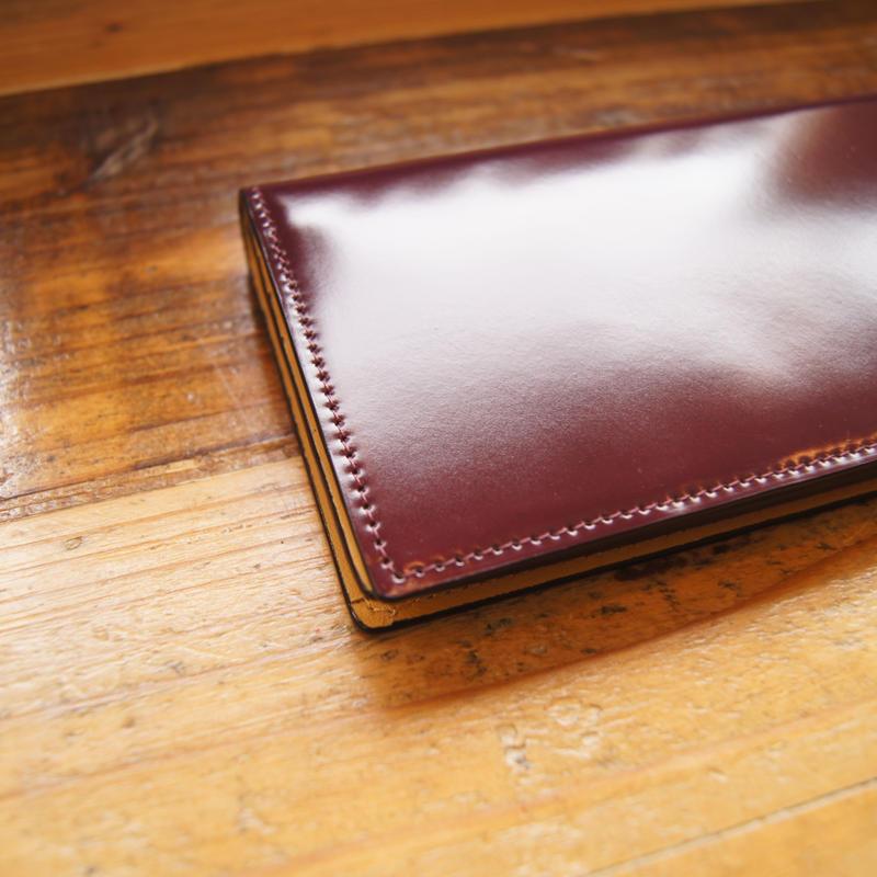 通しマチ長財布/プラチナボルドー