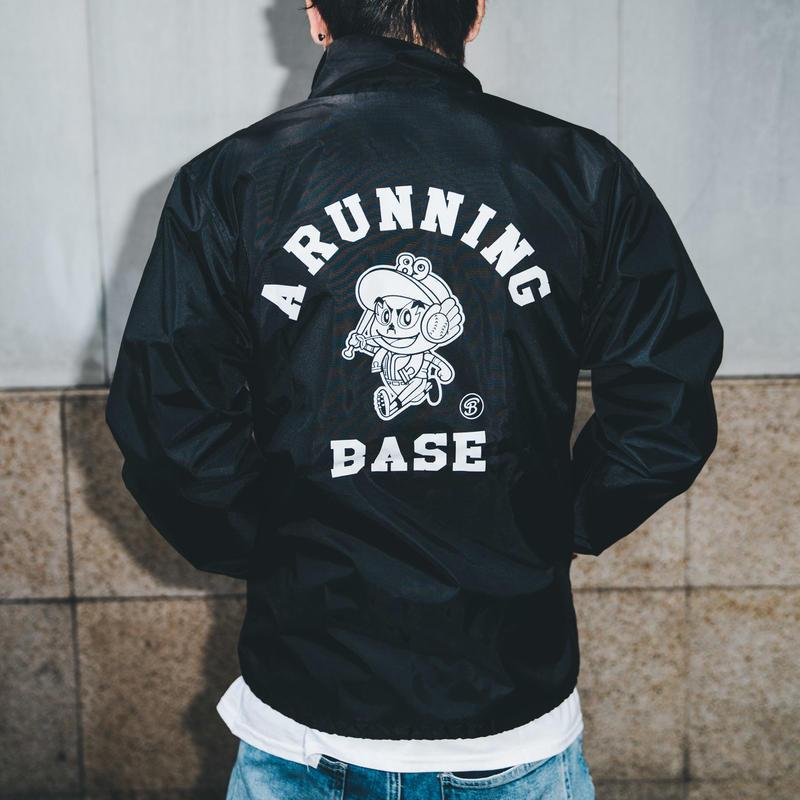 A RUNNING BASE コーチジャケット (黒)