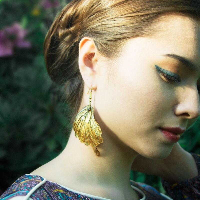【蝶】Butterfly Pierce - Glitter Gold -