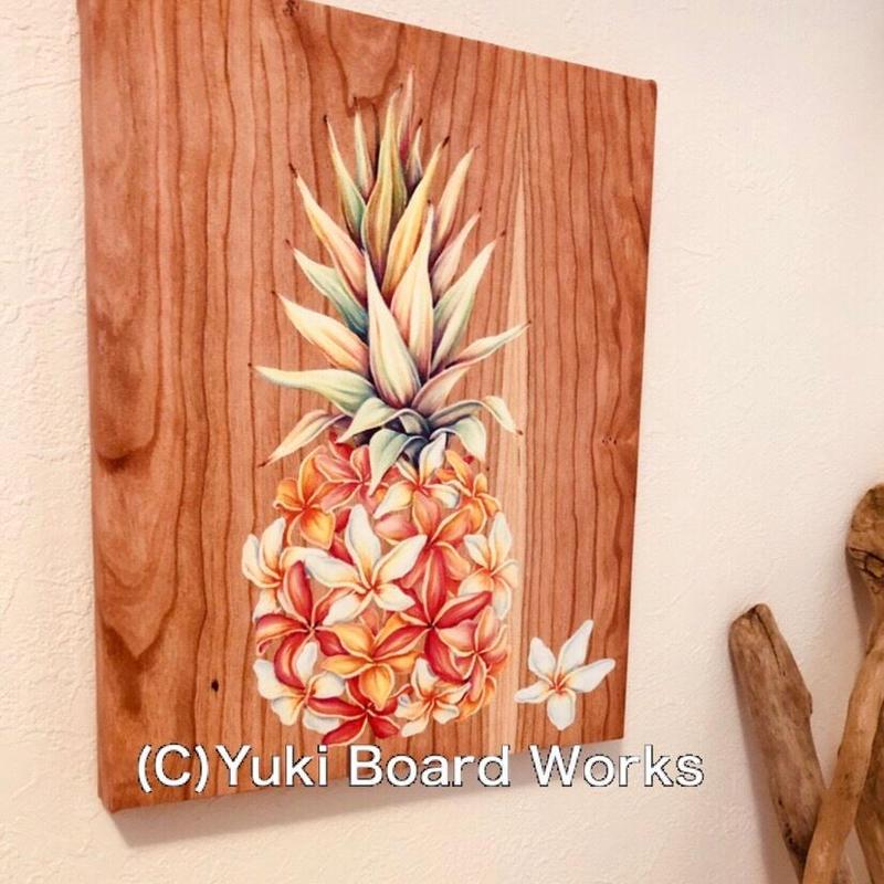 Hawaiian Chalk Art Canvas Paint -Pinapple Plumeria