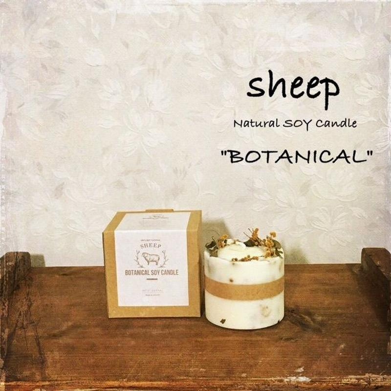 sheep SOY CANDLE botanical