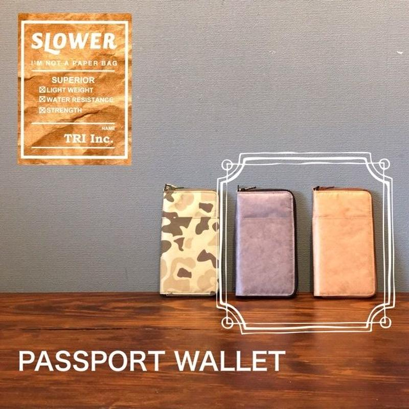 "SLOWER BAG ""PASSPORT WALLET"" Brown・Gray"