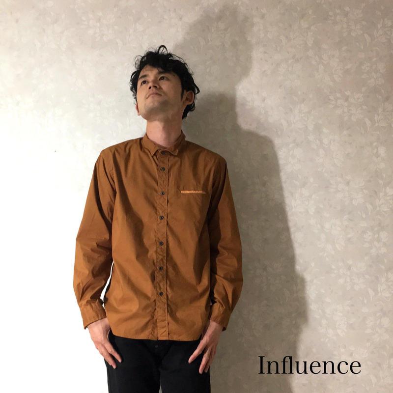 """Influence """"ブロードワイヤーシャツ"""" L.Brown"""