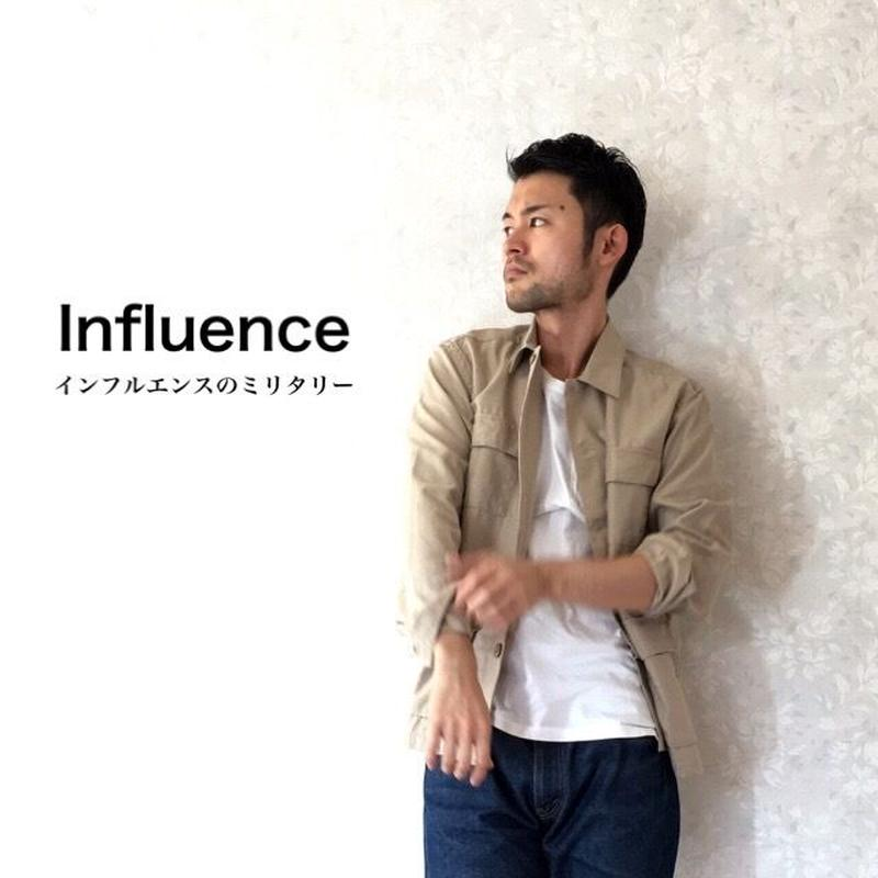 "Influence ""ミリタリーシャツブルゾン"" Beige"