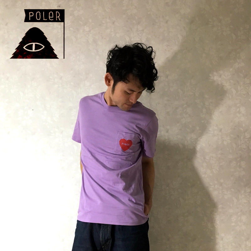 "POLeR ""HEART POCKET TEE"" Lilac"
