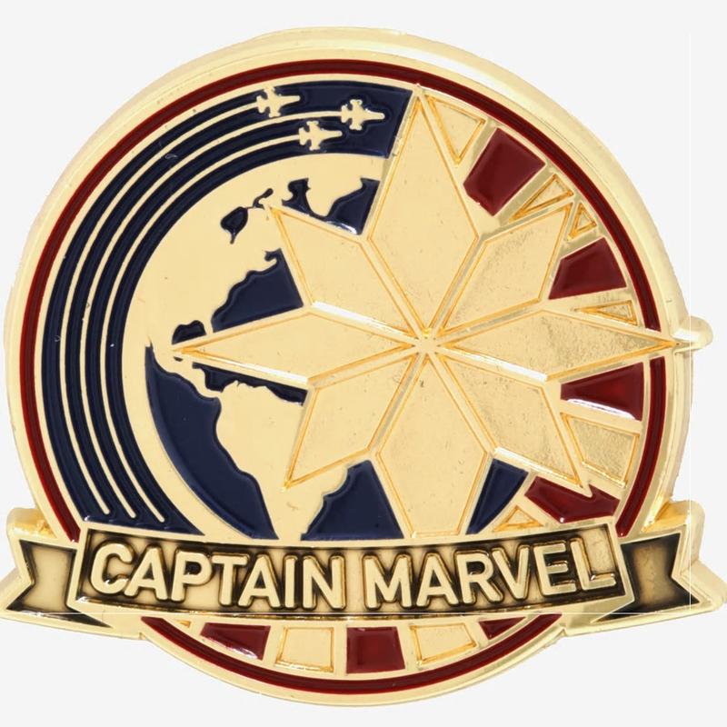 【USA直輸入】MARVEL キャプテンマーベル アースプロテクター ロゴ ピンズ マーベル Captain Marvel アベンジャーズ キャプテン・マーベル  ピン Earth Protector