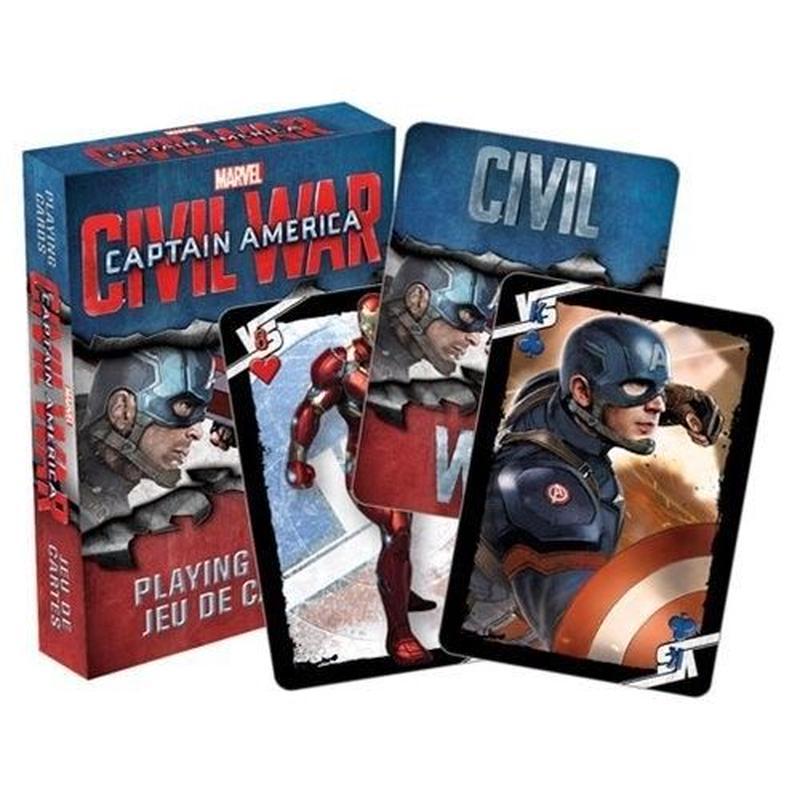 【USA直輸入】MARVEL キャプテンアメリカ シビルウォー 映画 トランプ プレイングカード マーベル Civil War アイアンマン
