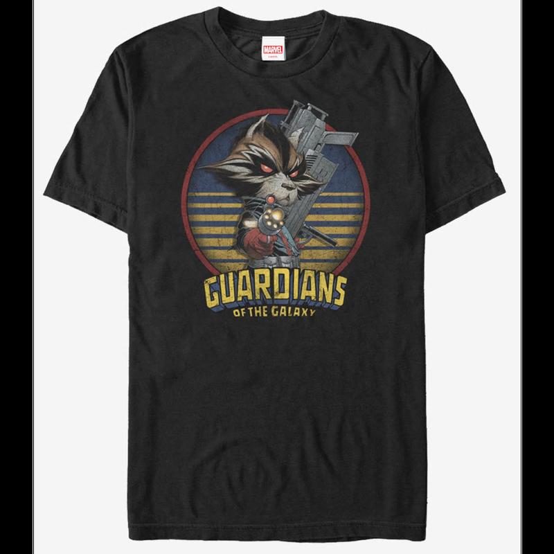 【USA直輸入】MARVEL ガーディアンズオブギャラクシー ロケット メタル ロケットラクーン Tシャツ コミック Mサイズ マーベル  ガーディアンズ