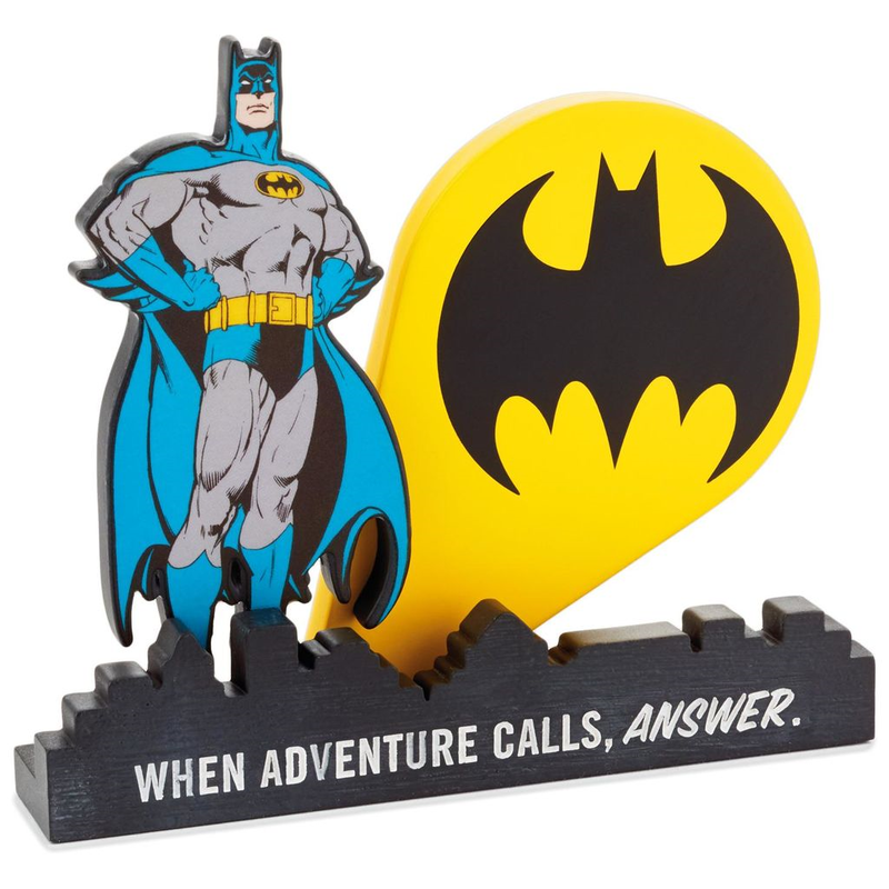 【USA直輸入】DCコミックス バットマン デスク フィギュア 置物 バットシグナル ジャスティスリーグ DC Batman ロゴ マーク