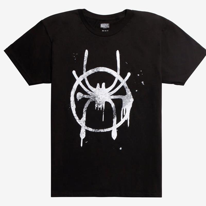 【USA直輸入】MARVEL  スパイダーバース ロゴ ブラック Tシャツ スパイダーマン マーベル   SPIDER-VERSE