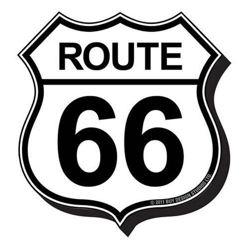 【USA直輸入】ルート66 マグネット 磁石 ダイカット ROUTE66