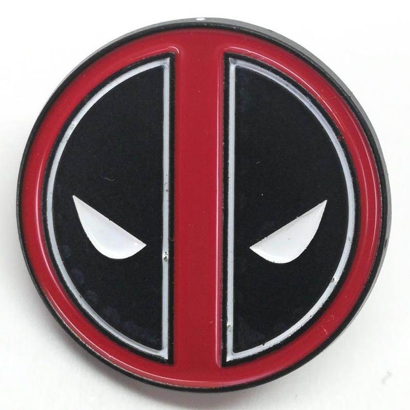 【USA直輸入】 MARVEL デッドプール ロゴ フェイス シンプル エナメル ピン マーベル ピンズ ピンバッジ Deadpool