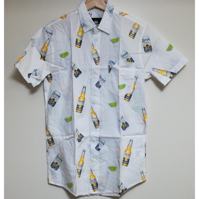 【USA直輸入】コロナ & ライム  ボタンダウンシャツ シャツ 半袖   Corona